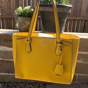 NWT Authentic Tory Burch yellow handbag